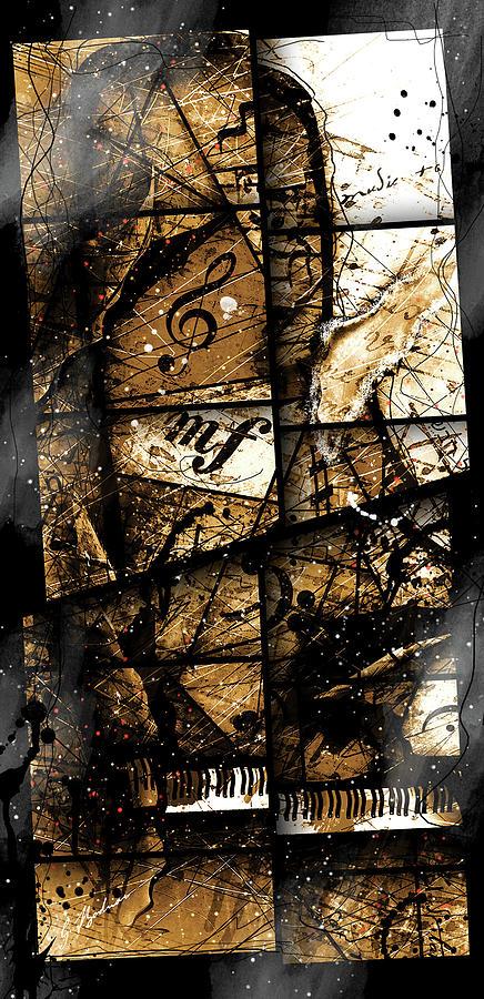Abstract Digital Art - Preludio 04 by Gary Bodnar