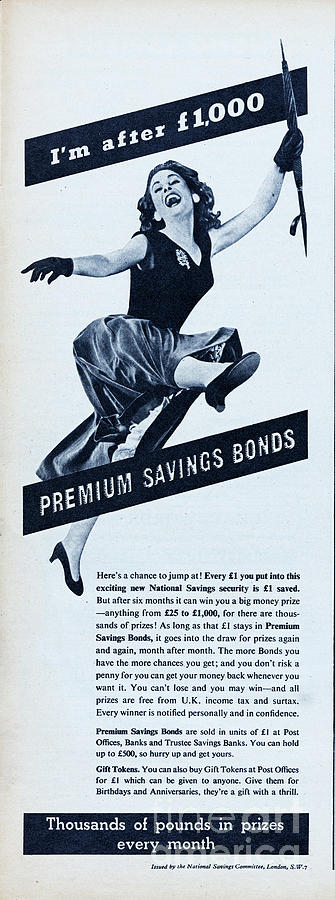Premium Bonds Photograph by Picture Post