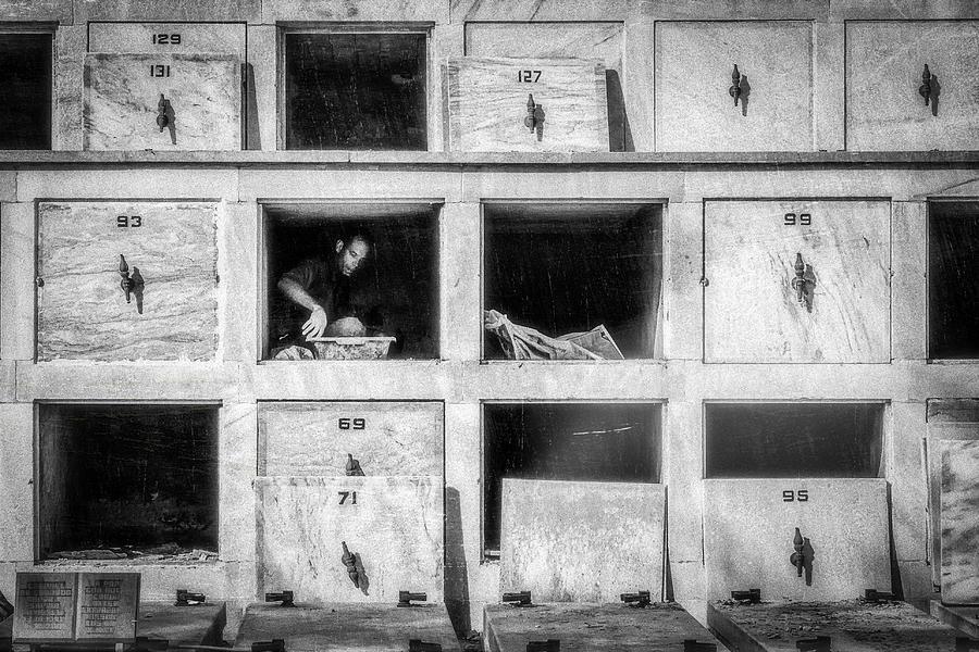 Cuba Photograph - Preparing Revolutionist Grave - Cementerio Cristóbal Colón, Havana by Andreas Bauer