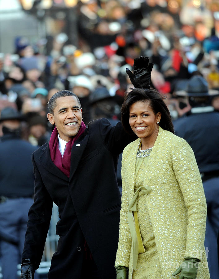 President Barack Obama And First Lady Photograph by New York Daily News Archive