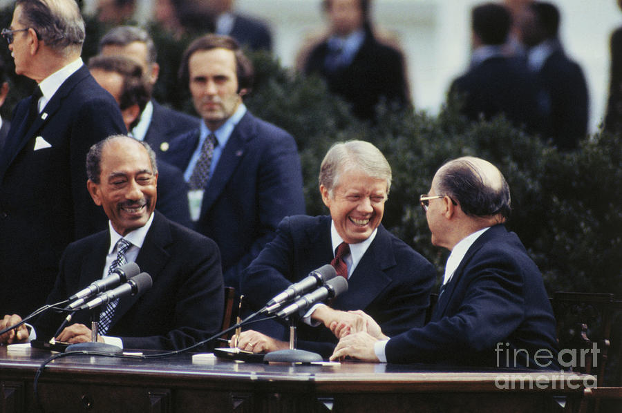 President Carter Shaking Hands With Photograph by Bettmann