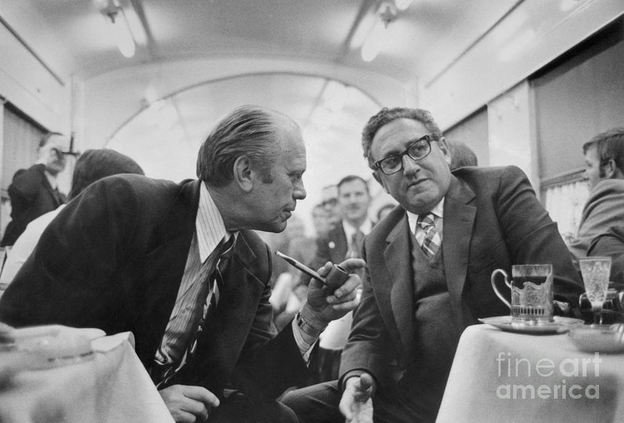 President Ford Discussing Progress Photograph by Bettmann