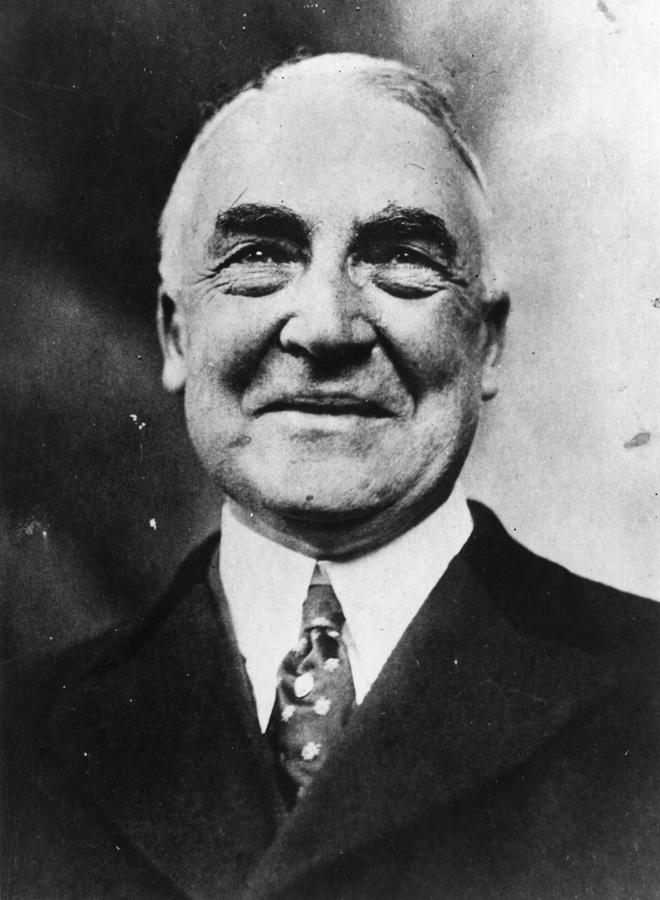 President Harding Photograph by Topical Press Agency