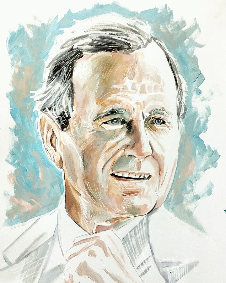 President HW Bush by Joel Tesch