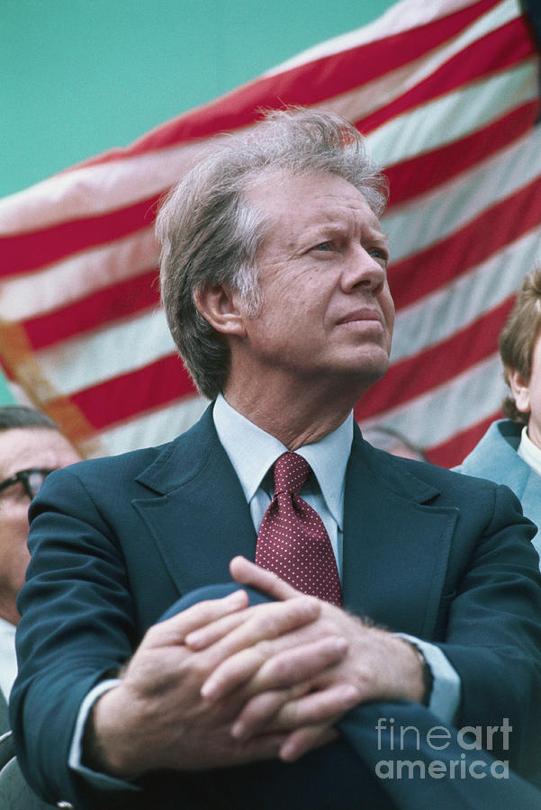 President Jimmy Carter Seated Photograph by Bettmann