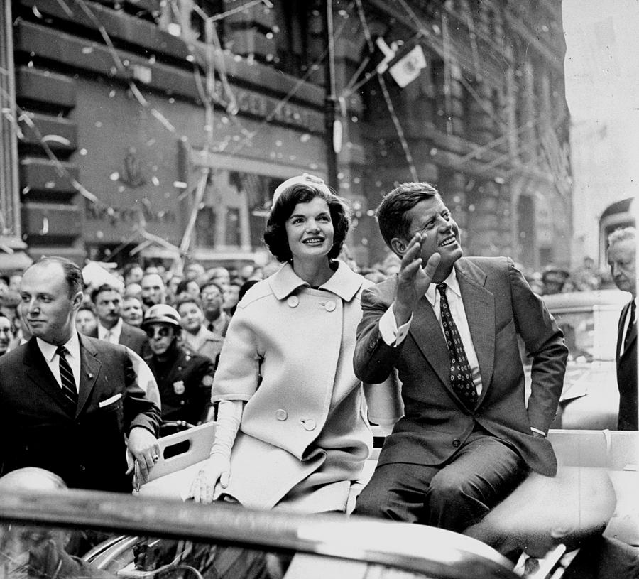 President John F. Kennedy And Wife Photograph by New York Daily News Archive