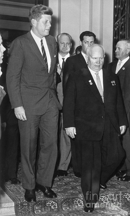 President Kennedy And Premier Khrushchev Photograph by Bettmann