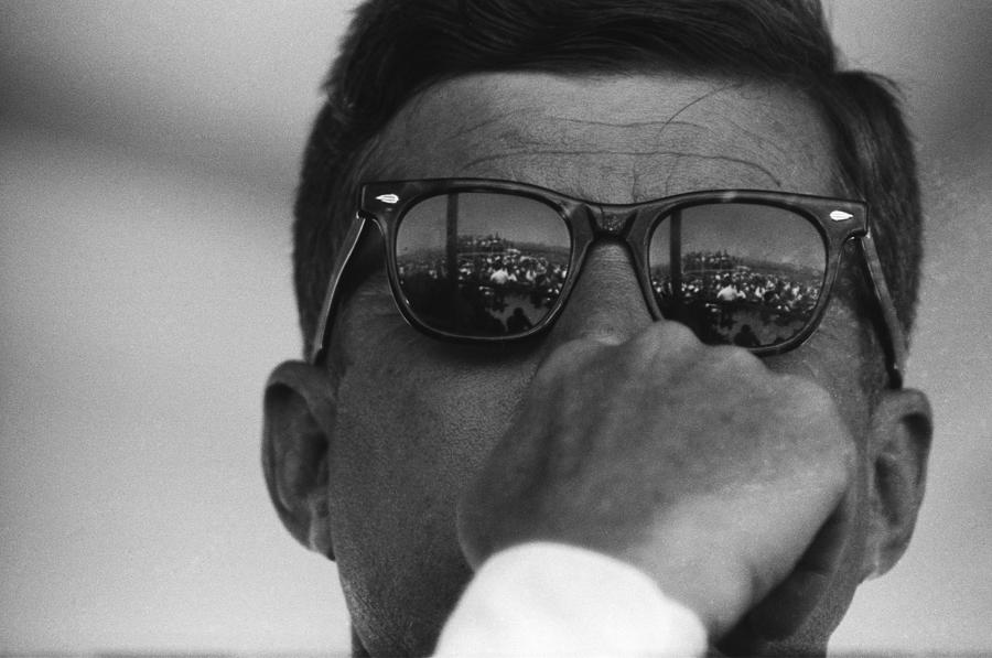President Kennedy At San Luis Dam Photograph by Michael Ochs Archives
