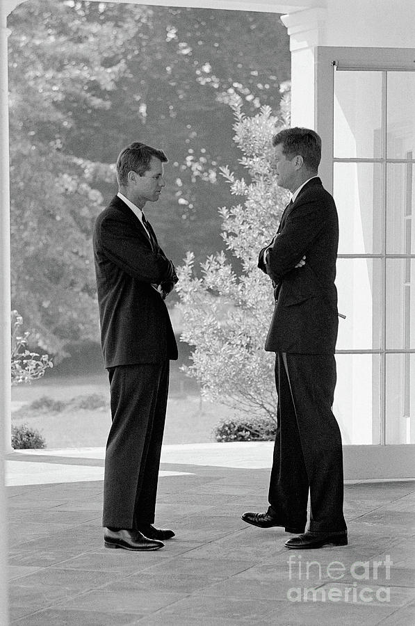 President Kennedy Confers With Brother Photograph by Bettmann