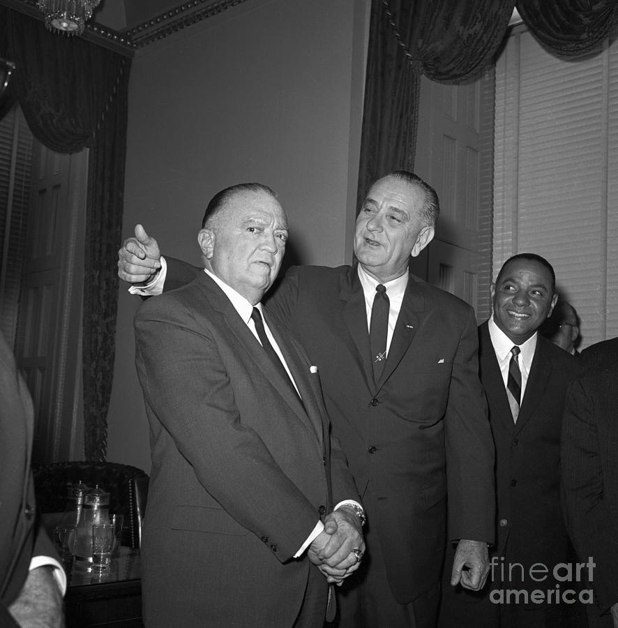 President Lyndon B. Johnson And F.b.i Photograph by Bettmann