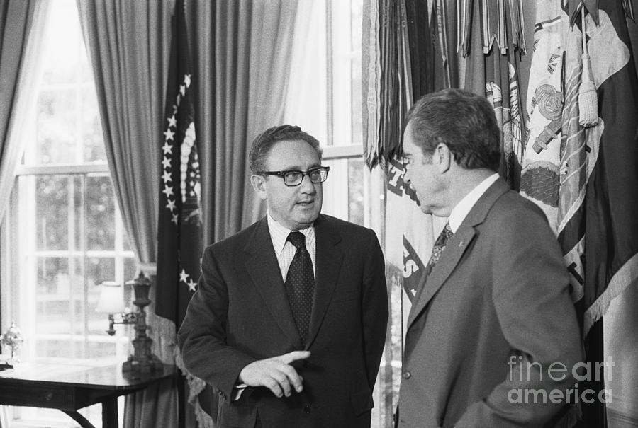 President Nixon And Henry A. Kissinger Photograph by Bettmann
