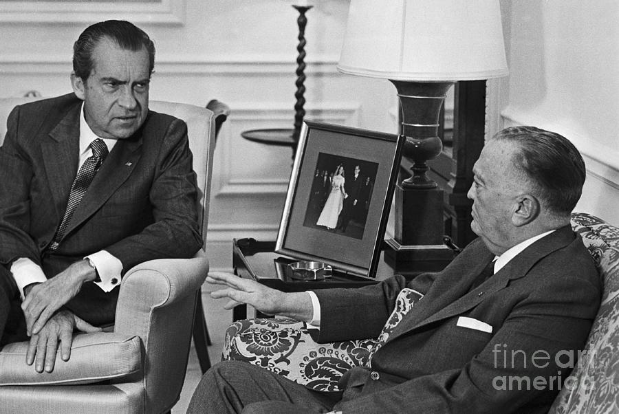 President Nixon Meeting With J. Edgar Photograph by Bettmann