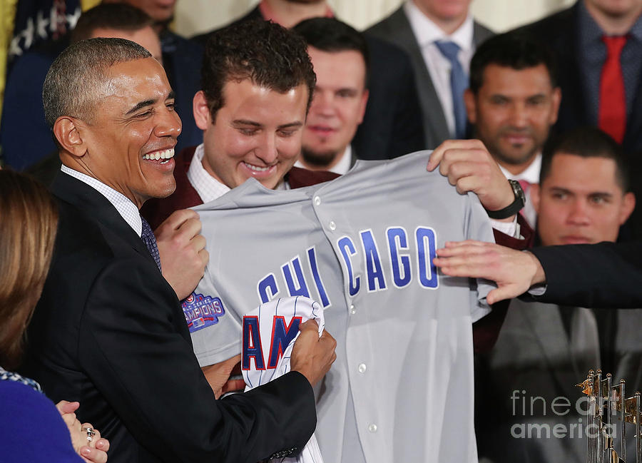 President Obama Welcomes World Series Photograph by Mark Wilson