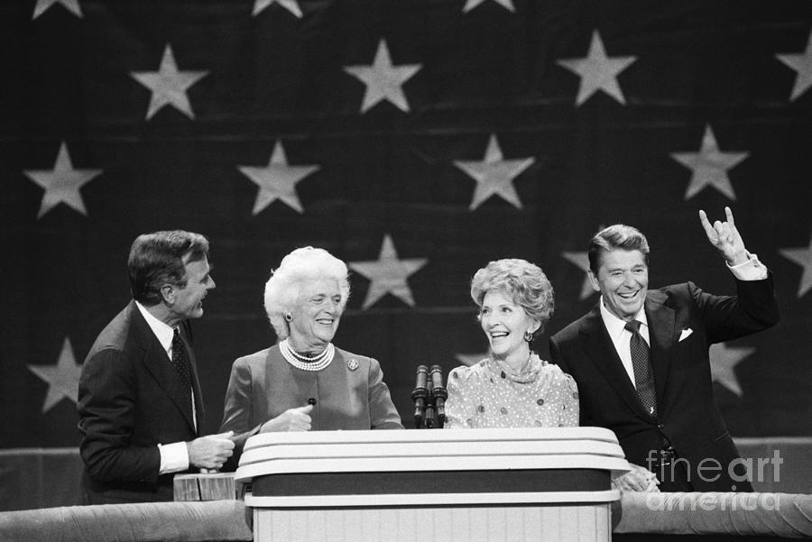 President Reagan And Vice-president Photograph by Bettmann