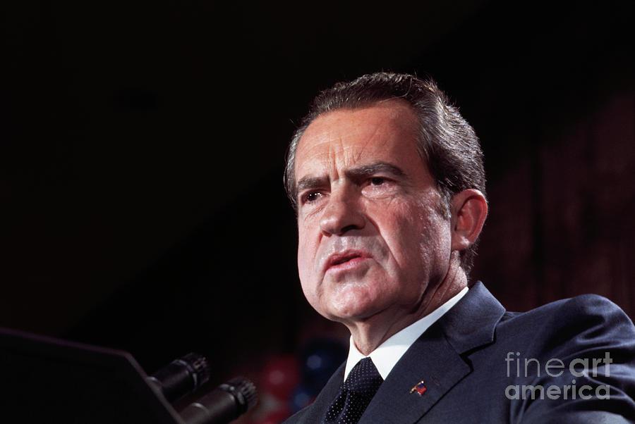 President Richard Nixon After Election Photograph by Bettmann
