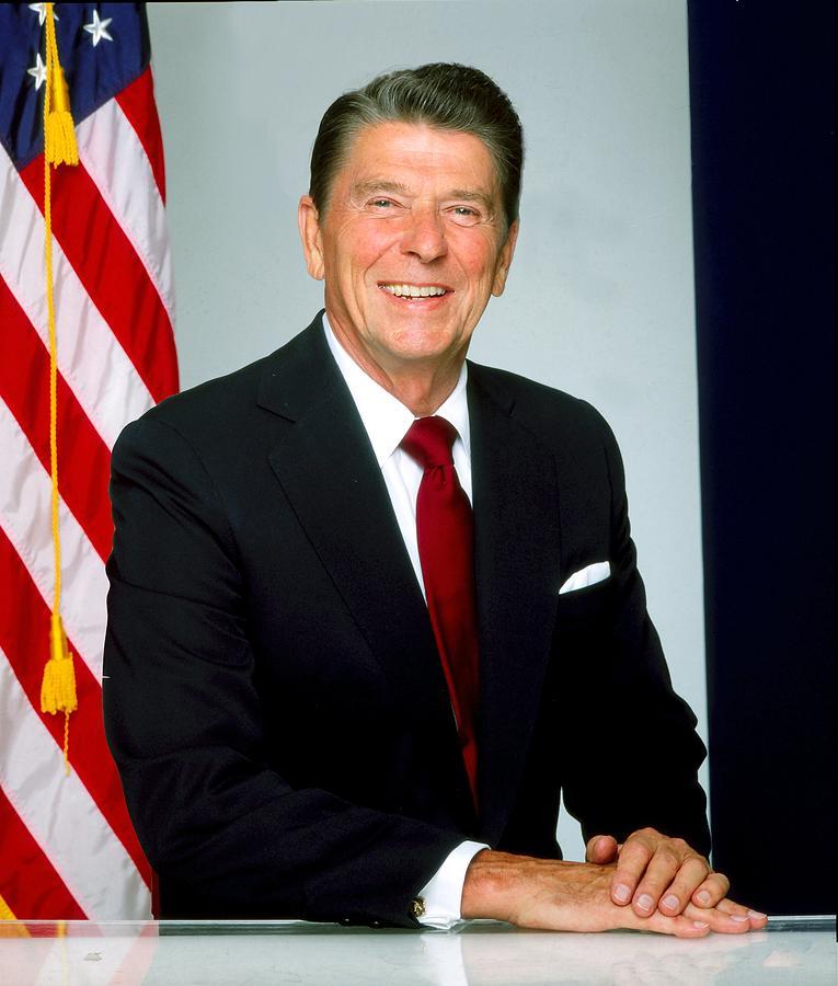 President Ronald Reagan Portrait Session Photograph by Harry Langdon
