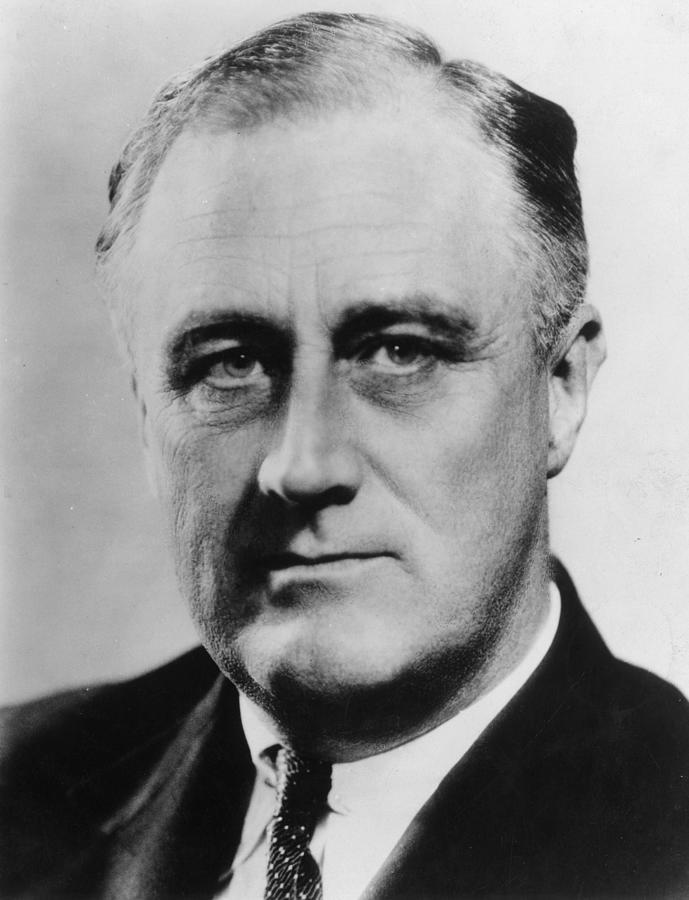 President Roosevelt Photograph by Evening Standard