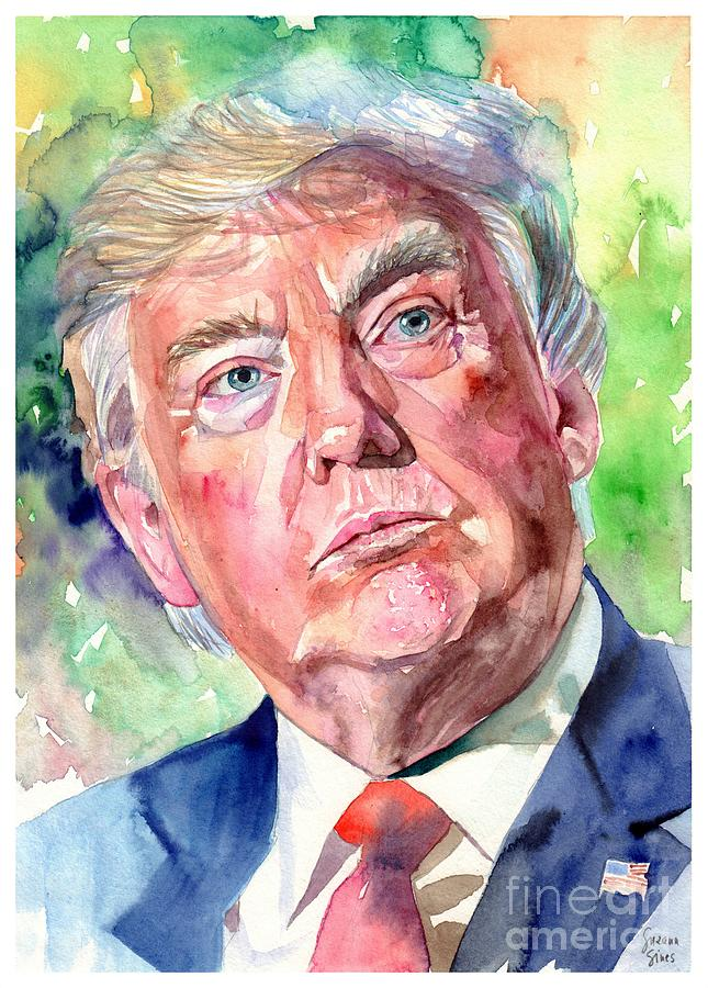Donald Painting - President Trump by Suzann Sines
