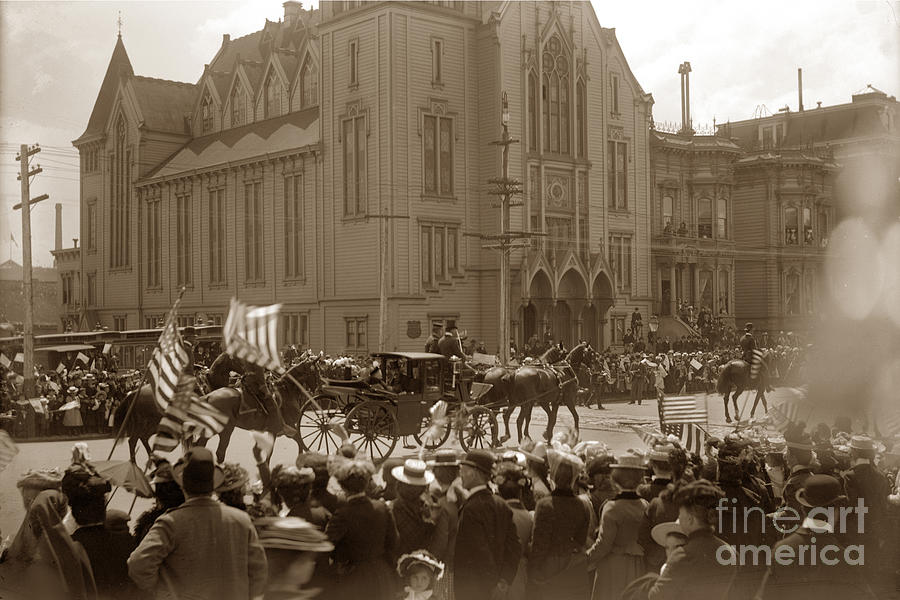 President William McKinley toured San Francisco May 21, 1901 by California Views Archives Mr Pat Hathaway Archives