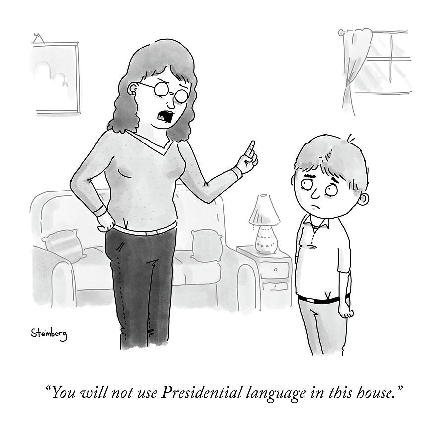 Presidential Language Drawing by Avi Steinberg
