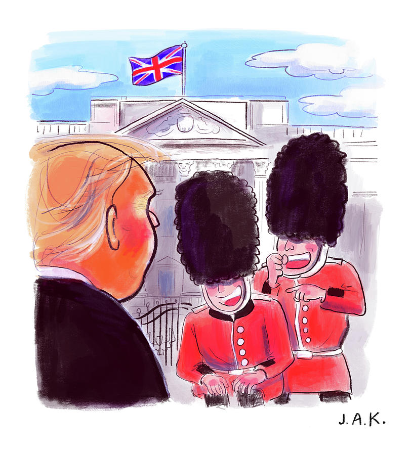Presidential Visit to the UK Painting by Jason Adam Katzenstein