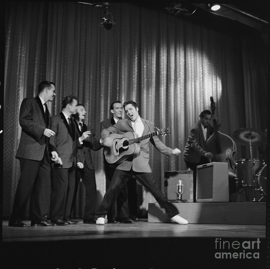 Presley On The Ed Sullivan Show Photograph by Cbs Photo Archive