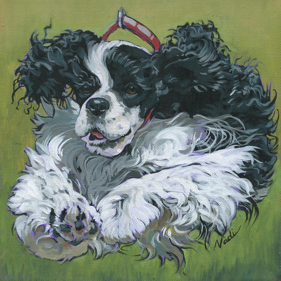 American Cocker Spaniel Painting - Preston by Nadi Spencer