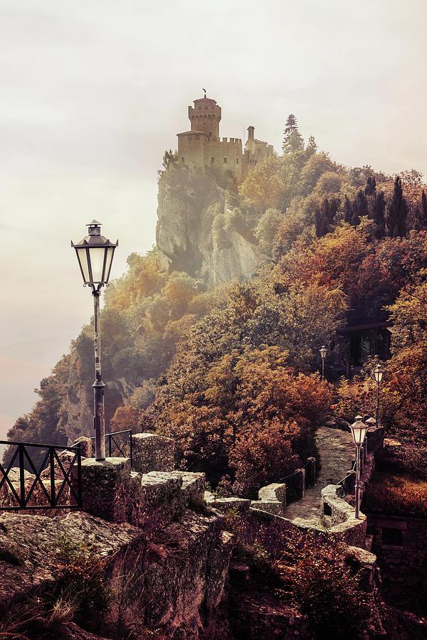 Pretty autumn morning in San Marino by Jaroslaw Blaminsky