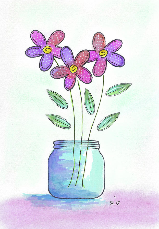 Pretty Colorful Flowers by Susan Campbell