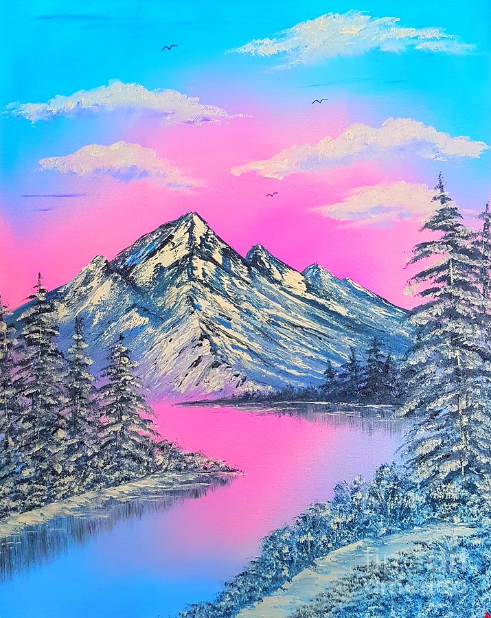 Pretty Cool Winter Glow Painting