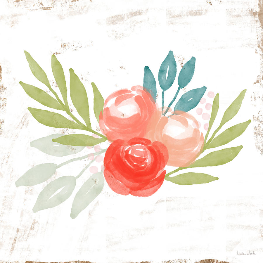 Roses Mixed Media - Pretty Coral Roses - Art By Linda Woods by Linda Woods