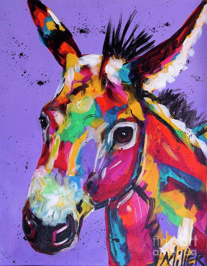 Donkey Painting - Pretty Donkey by Tracy Miller