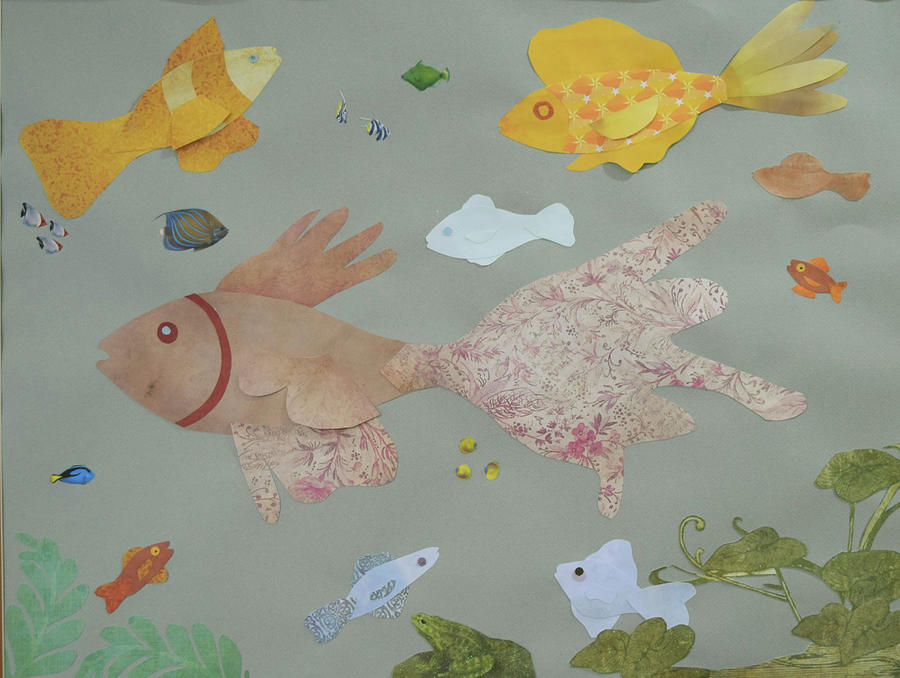 Fish Mixed Media - Pretty in Pink by Charla Van Vlack