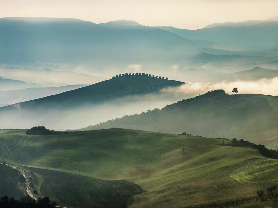 Toscany Photograph - Pretty Morning In Toscany by Jaroslaw Blaminsky