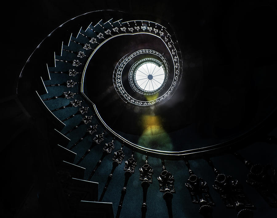 Pretty ornamented spiral staircase by Jaroslaw Blaminsky