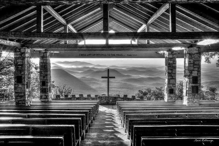 Pretty Place Chapel 7 B W Ymca Camp Greenville Great Smoky Mountains Art Photograph