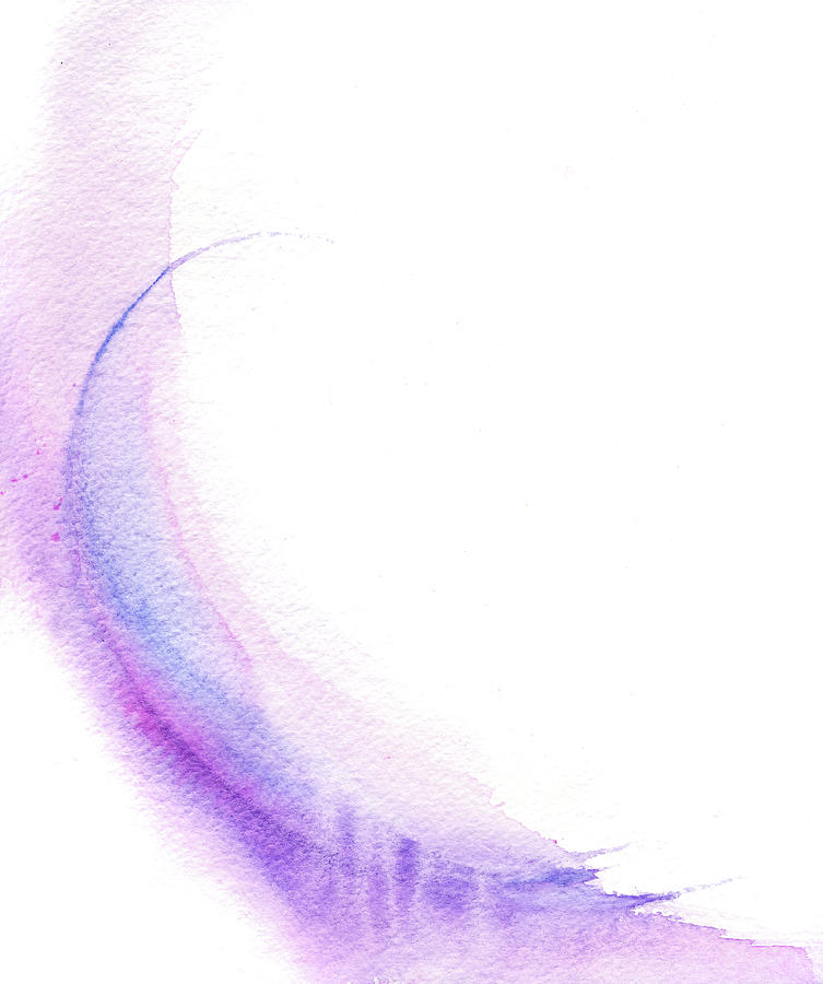Pretty Purple Pink And Blue Watercolor Digital Art by Stereohype