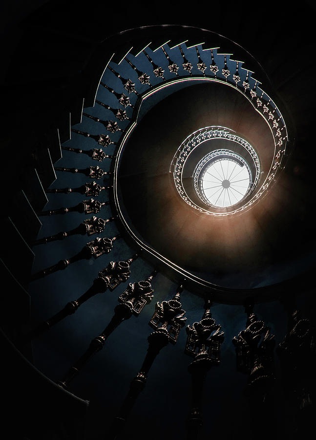 Pretty staircase in the old tower by Jaroslaw Blaminsky