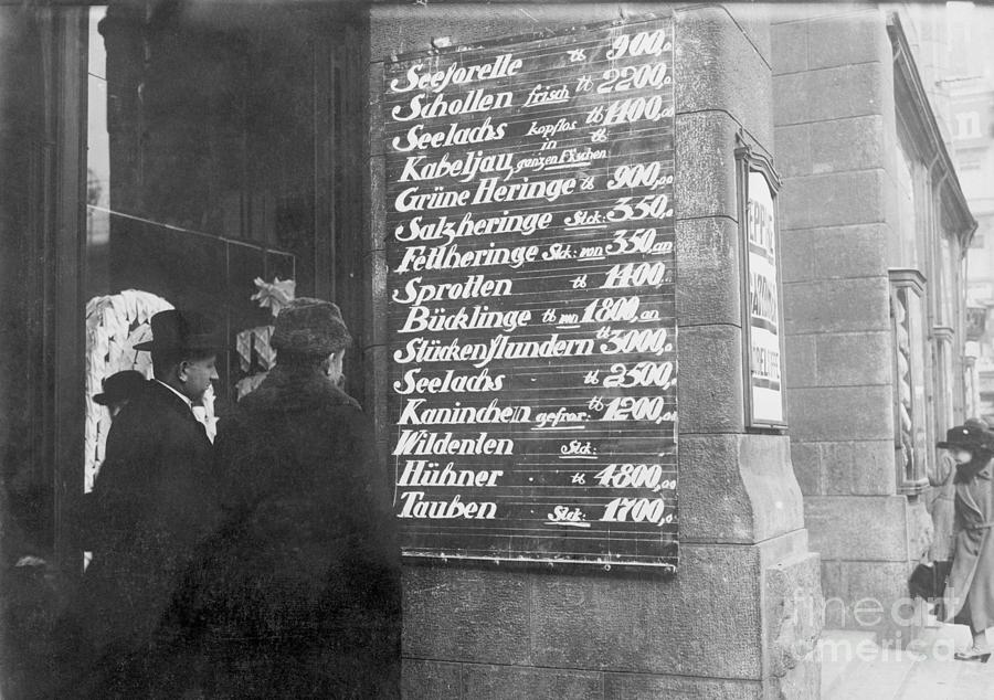Price List In German Provisions Store Photograph by Bettmann