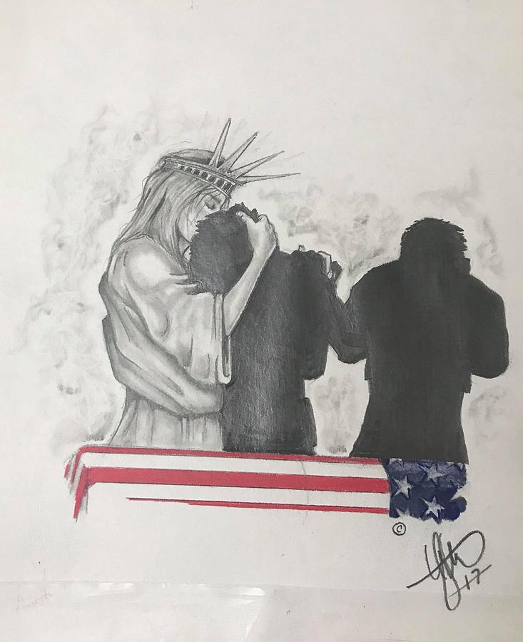 Liberty Drawing - Price of Liberty by Howard King
