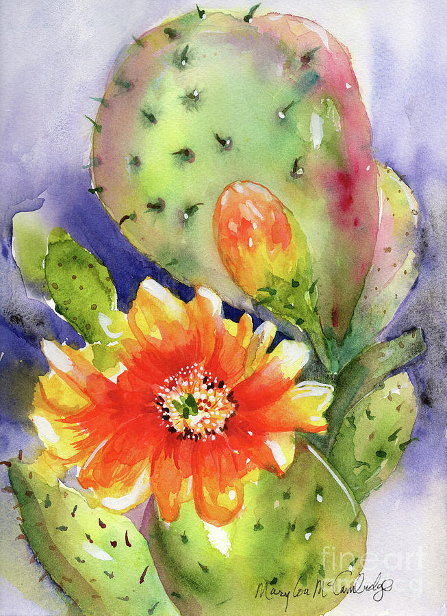 Prickly Pear Bloom by Mary Lou McCambridge