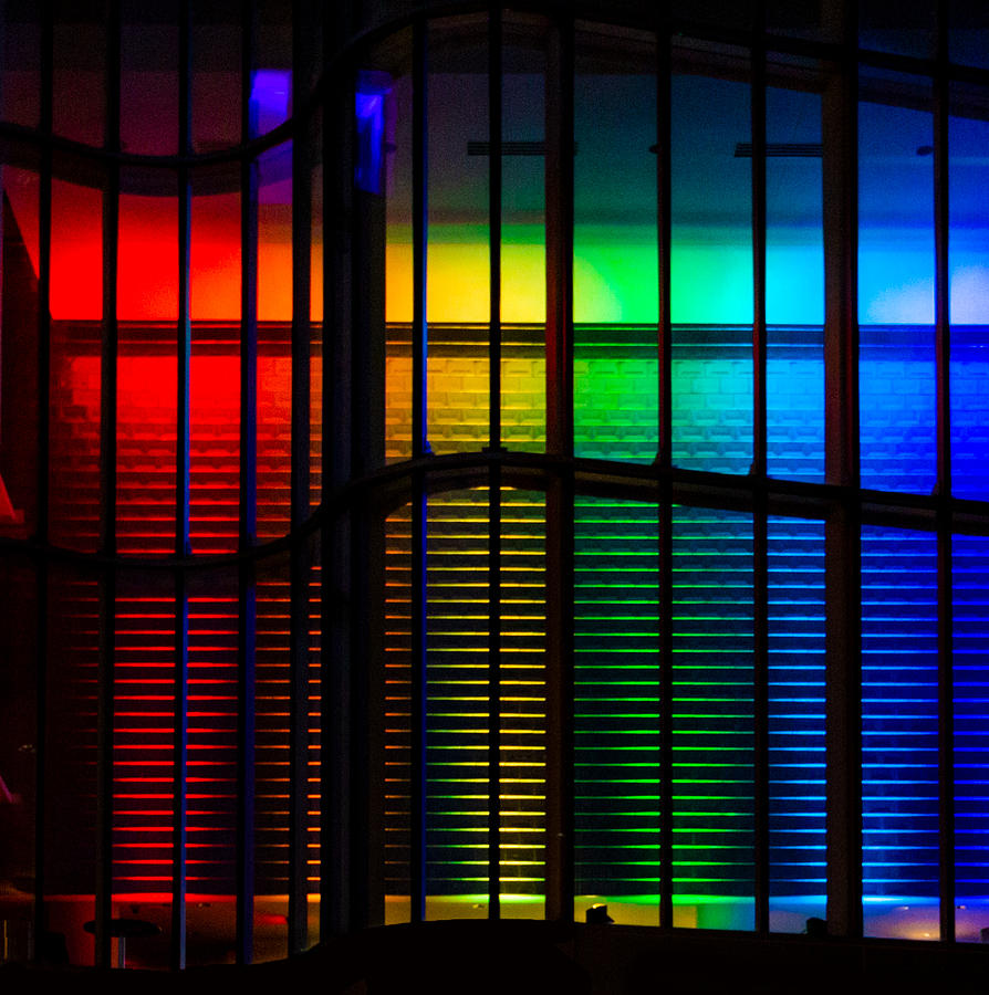 Rainbow Photograph - Pride Architecture  by Christine Buckley