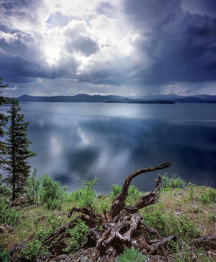 Beautiful Photograph - Priest Lake Light by Leland D Howard