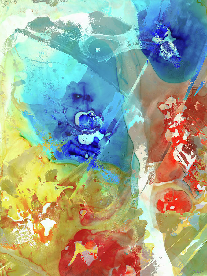 Abstract Color Paint Art
