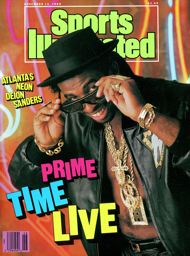 Prime Time Live Atlantas Neon Deion Sanders Sports Illustrated Cover Photograph by Sports Illustrated