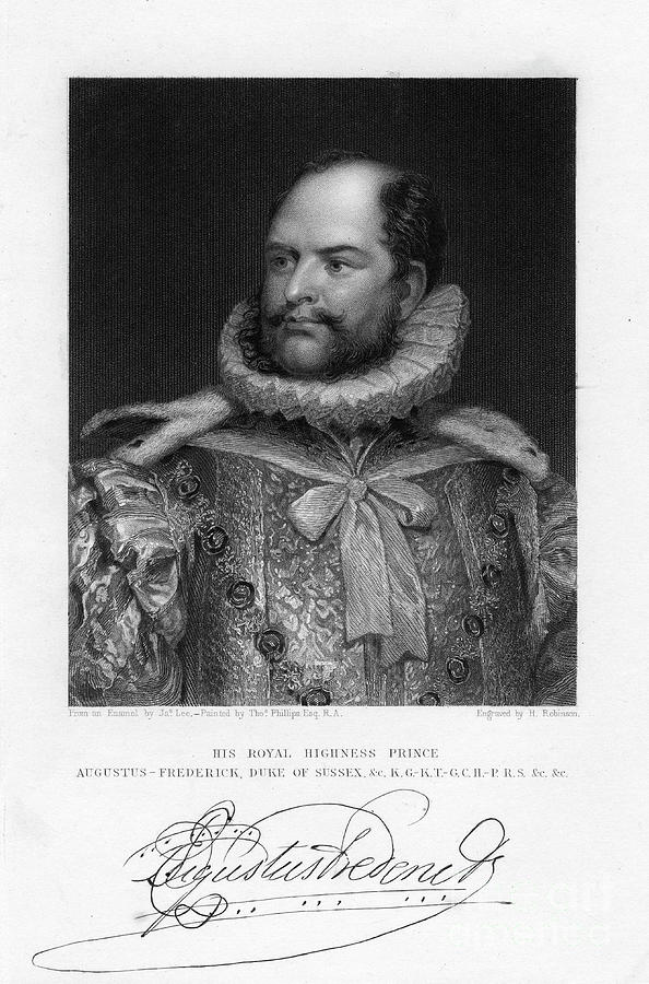 Prince Augustus Frederick, Duke Drawing by Print Collector