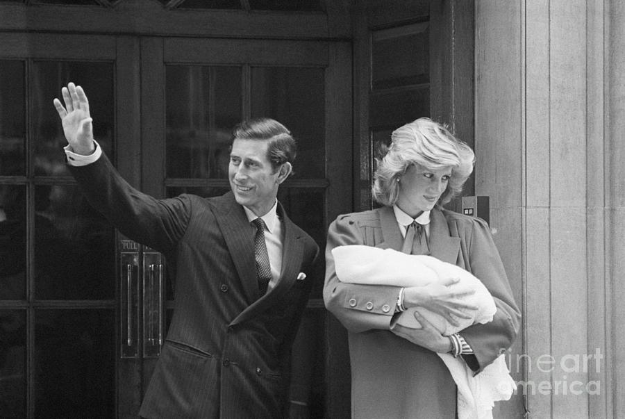 Prince Charles And Diana With Newborn Photograph by Bettmann
