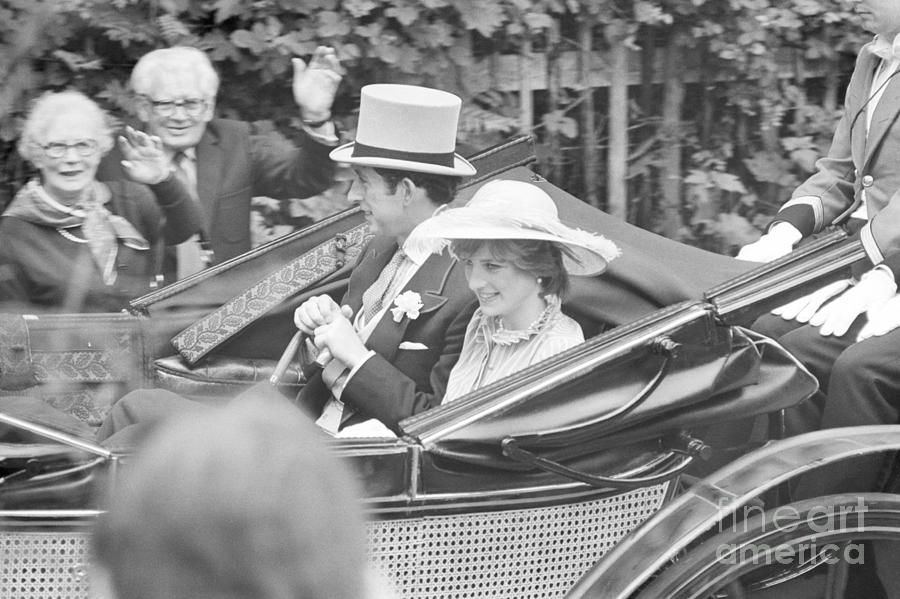 Prince Charles And Lady Diana In Open Photograph by Bettmann