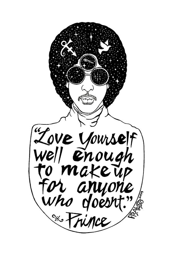 Pen And Ink Illustration Drawing - Prince Drawing by Rick Frausto