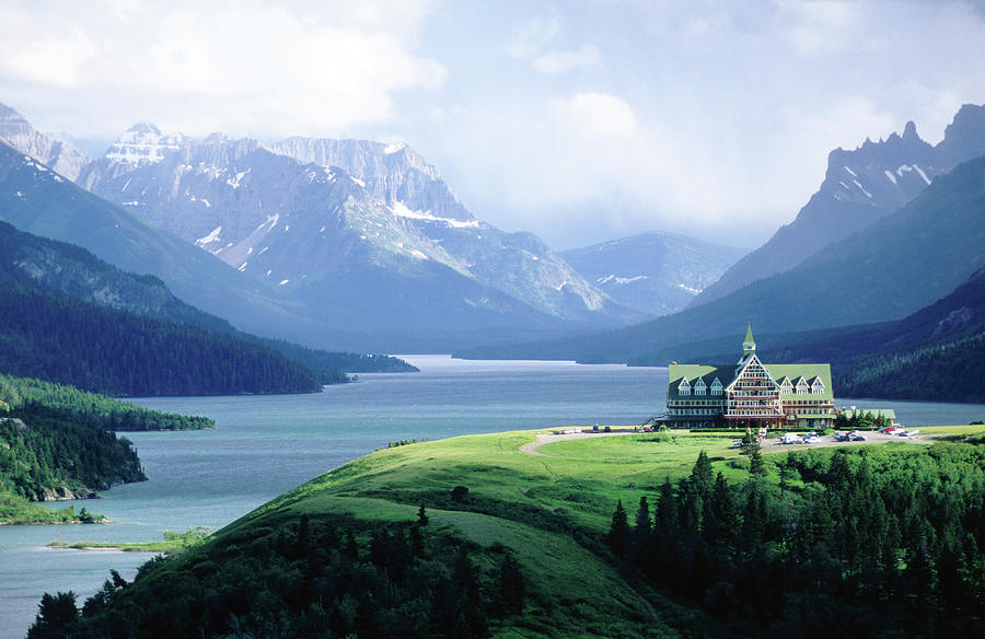 Prince Of Wales Hotel, With Waterton Photograph by John Elk